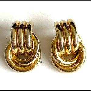 Door knocker earrings gold vintage